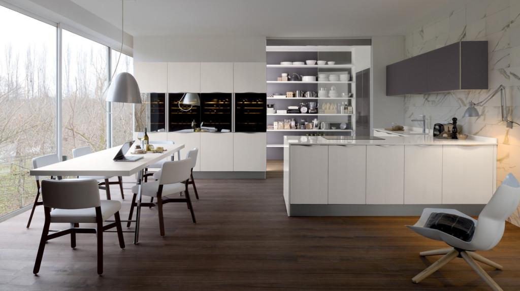Veneta cucine modello extra laccato rosso fiamma - Quarzo veneta cucine ...