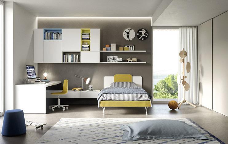letto giallo
