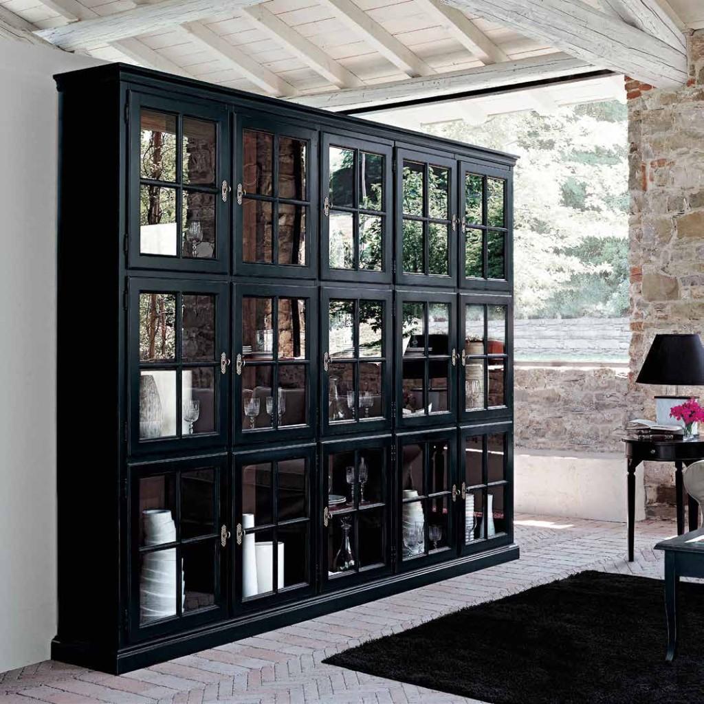 Libreria a lissone soggiorno classico colore beige creta for Soggiorno creta