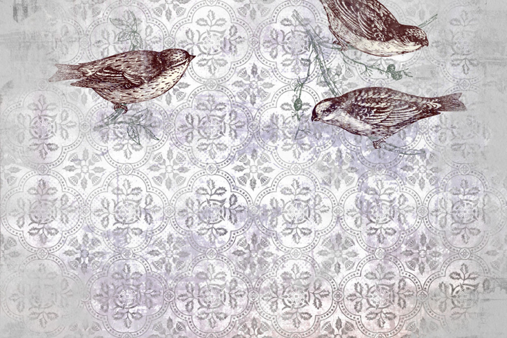 carta da parati art-the-birds soggetto uccelli