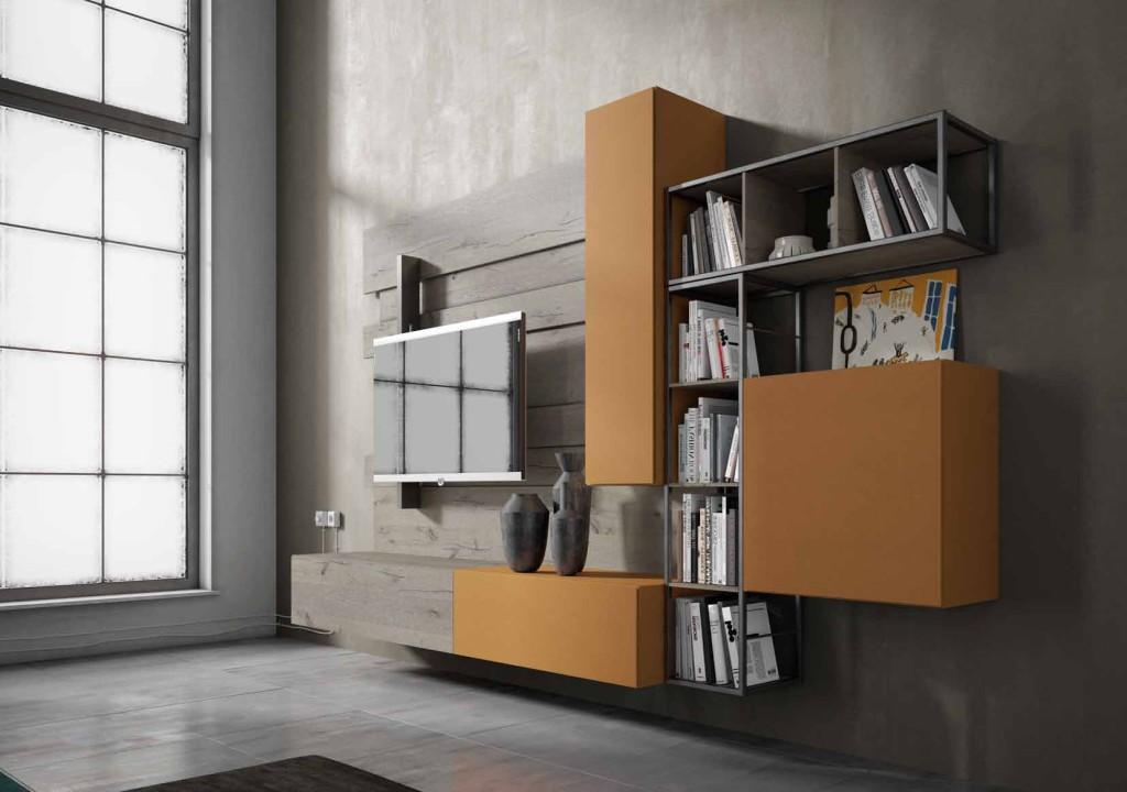 soggiorno componibile rebel fimar mobili