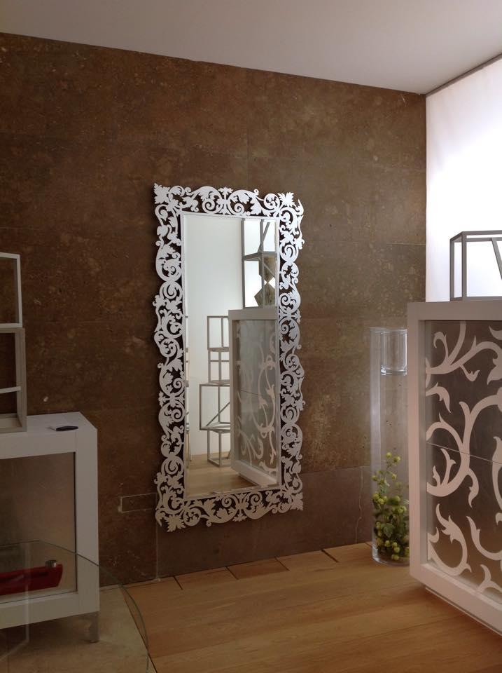 Specchio in foglia argento modello Romantico Riflessi