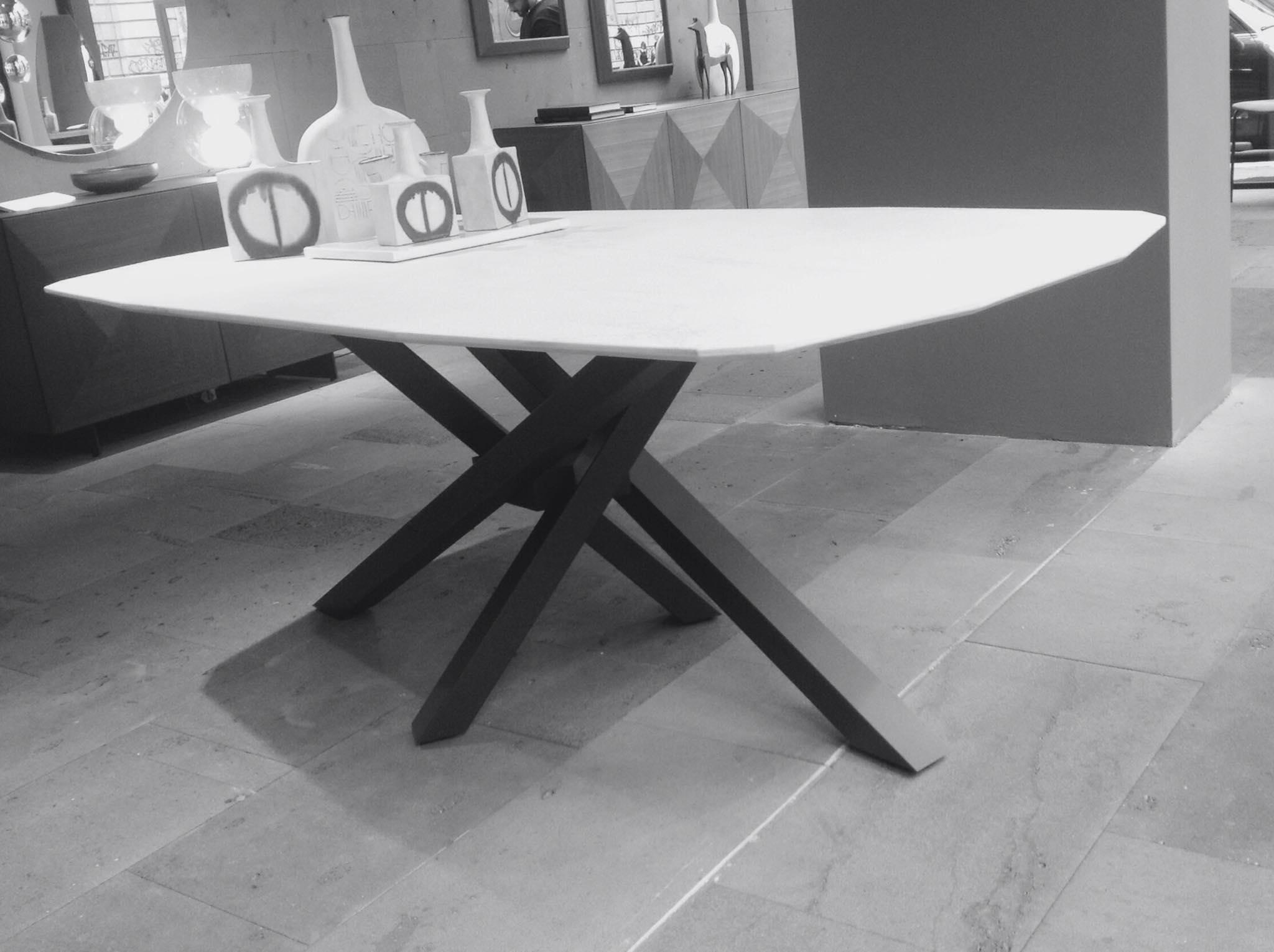 Tavolo shangai riflessi piano in marmo -