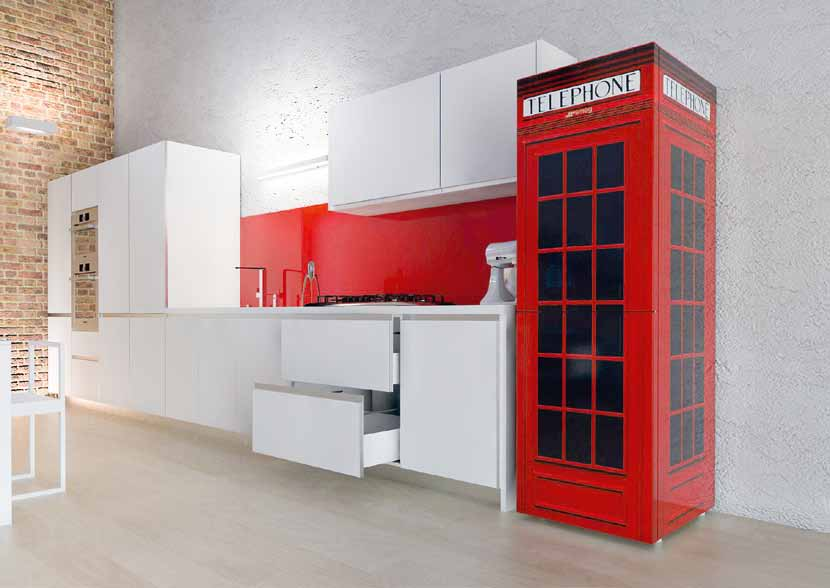 frigorifero cabina telefonica