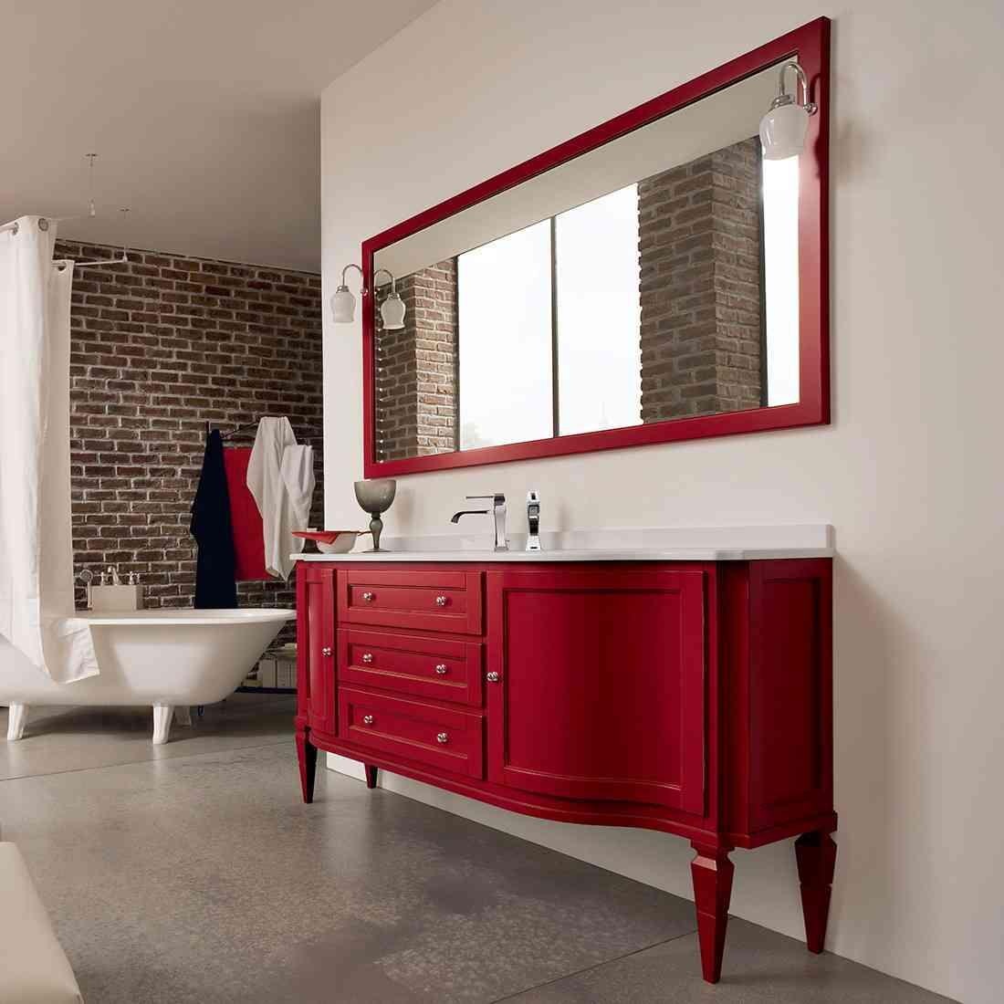 bagno classico colore rosso