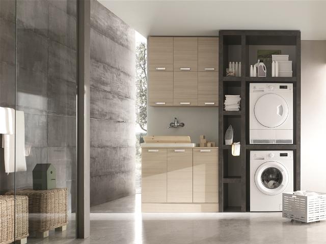 Mobile lavanderia stireria anche su misura - Lavatrice in bagno soluzioni ...