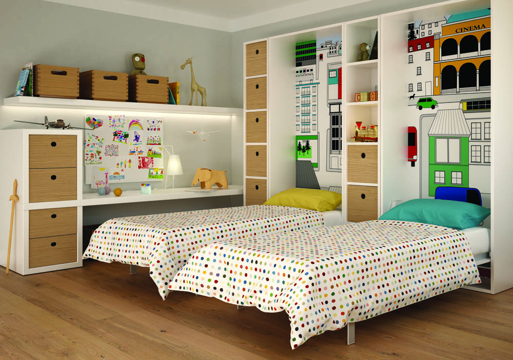 Best Camerette Con Letto A Scomparsa Pictures - Amazing House Design ...