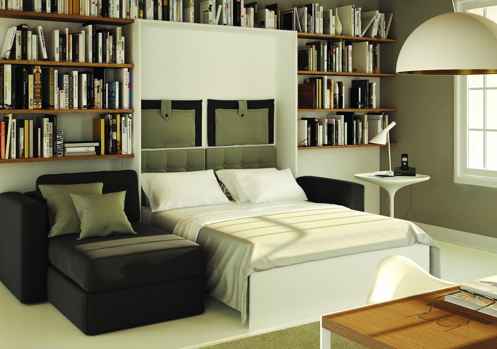 Letto a scomparsa in poche mosse il letto fatto for Letto a scomparsa con divano
