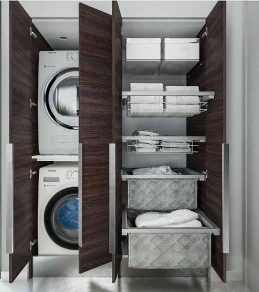 Mobile lavanderia stireria anche su misura - Mobile lavandino lavatrice ...