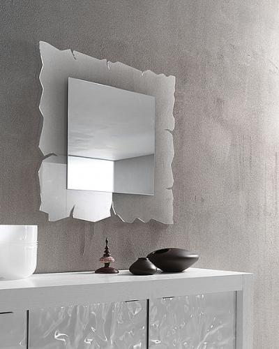 specchio vision con cornice in metacrilato trasparente