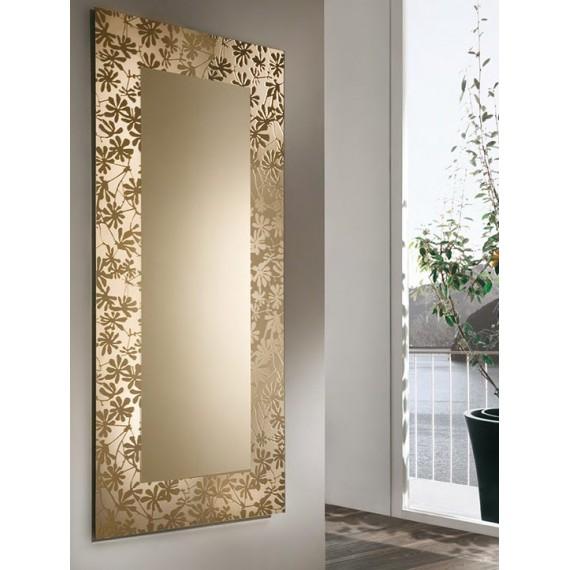 Specchio bronzato Diva Riflessi con cornice serigrafata