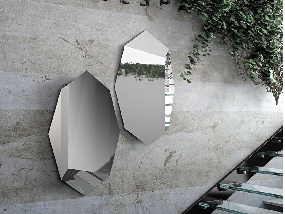 Specchio Prisma Riflessi. Specchio con superfici specchianti inclinate