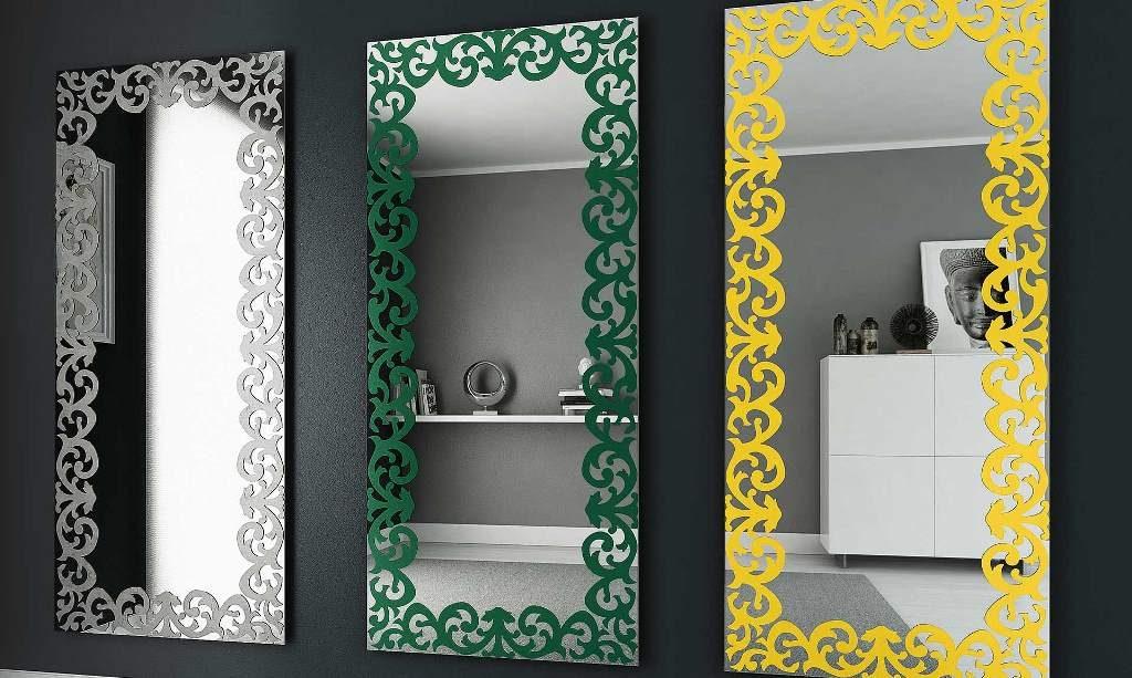 specchio rettangolare Baroque Riflessi con decorazione