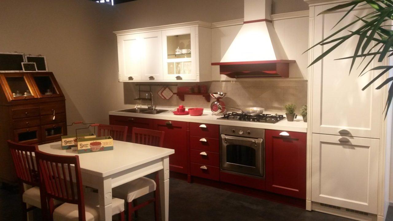 Veneta Cucine Gretha.Veneta Cucine Modello Gretha Rosso E Bianco