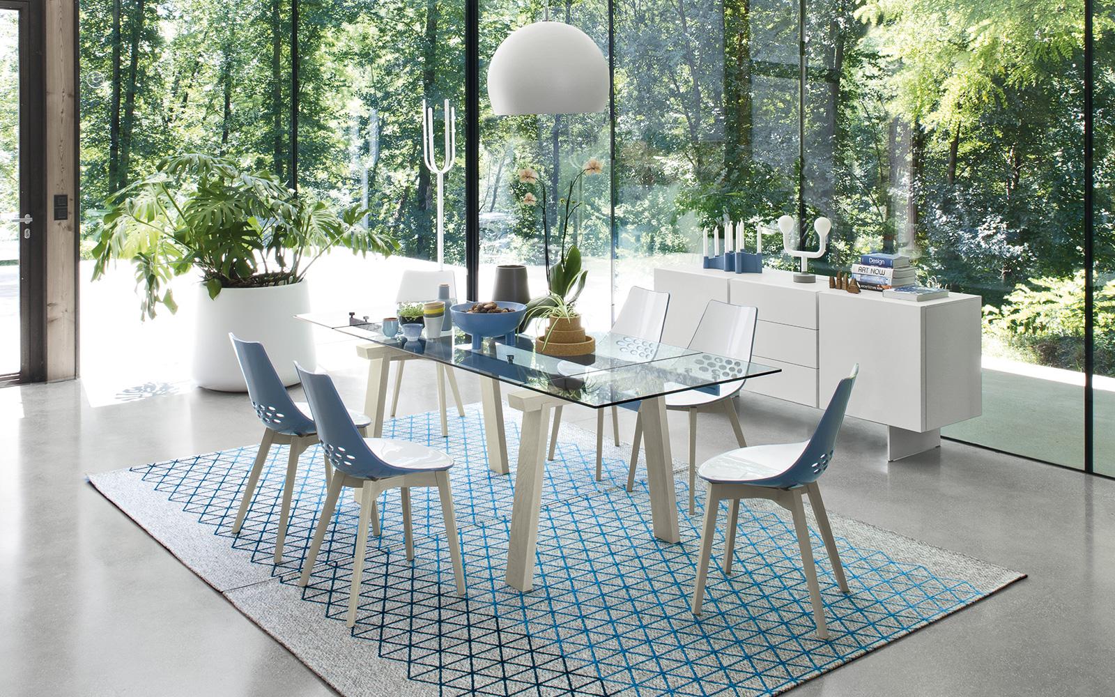 Calligaris tavolo Levante sedia Cream -