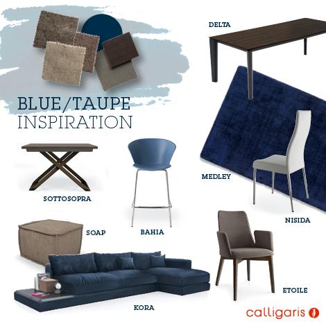 Calligaris tavoli sedie tappeti blue
