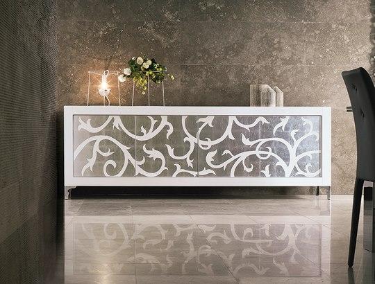 Riflessi Madia Picasso anta intarsio foglia argento
