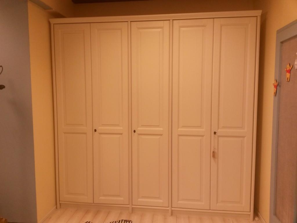 armadio 4 ante vero legno