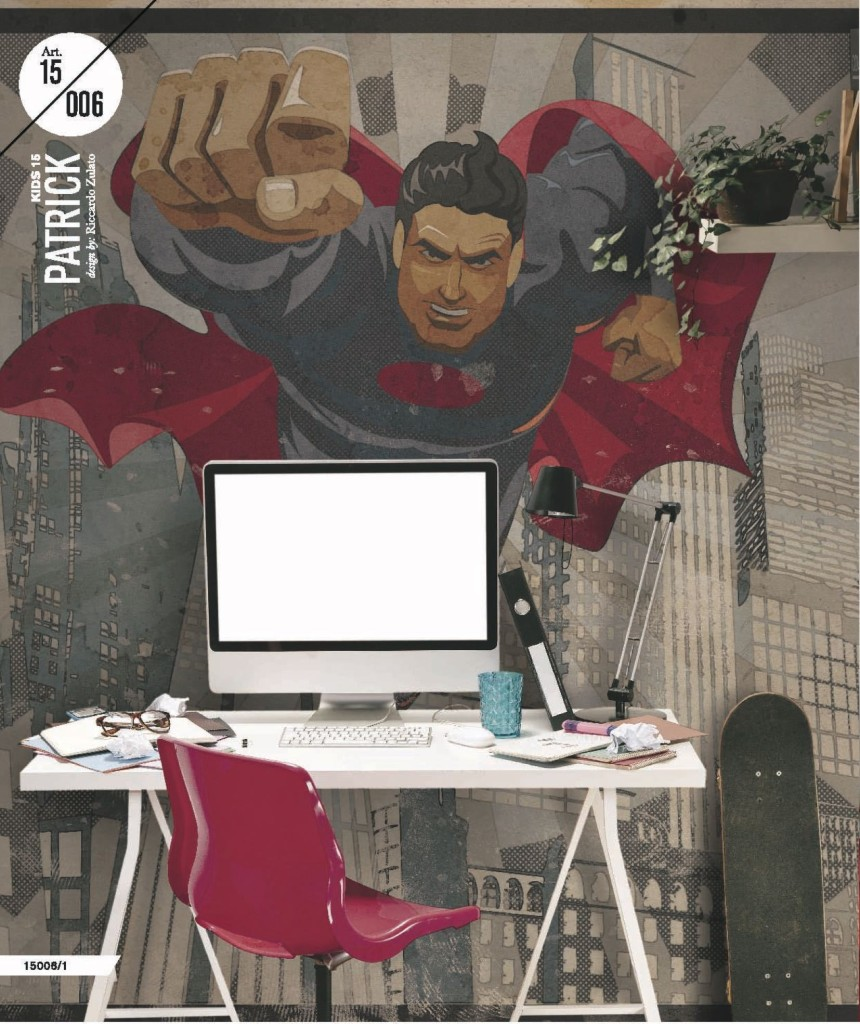 carta da parati superman