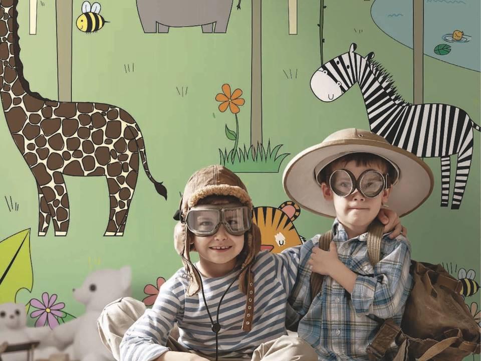 carta da parati animali zebra giraffa
