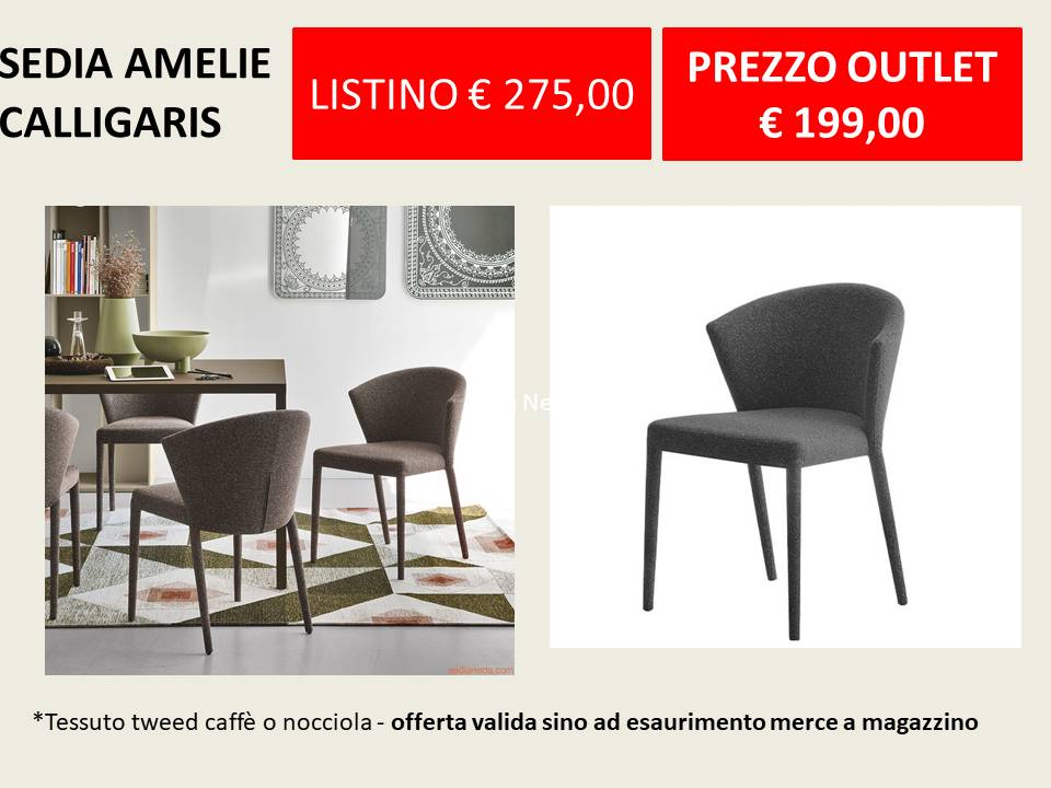 sedia amelie calligaris outlet