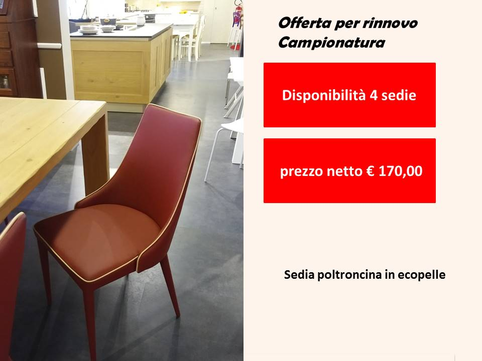sedia ecopelle in offerta outlet visionabile in negozio