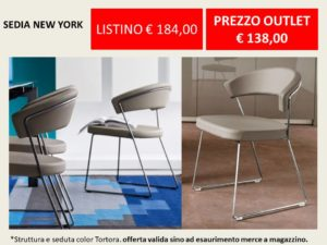 sedia new york calligaris outlet -