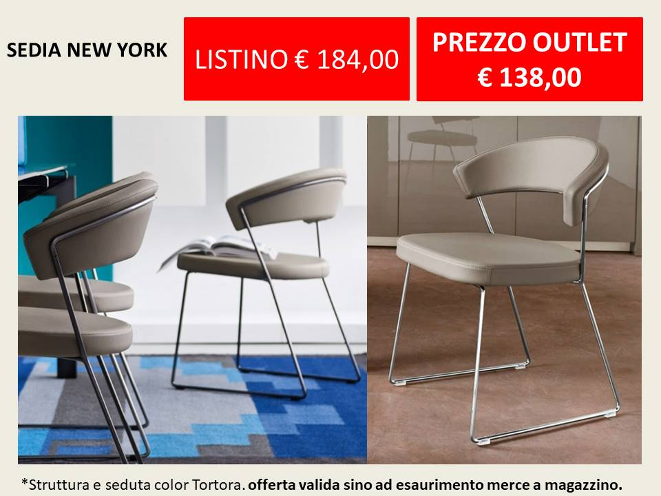 sedia new york calligaris outlet