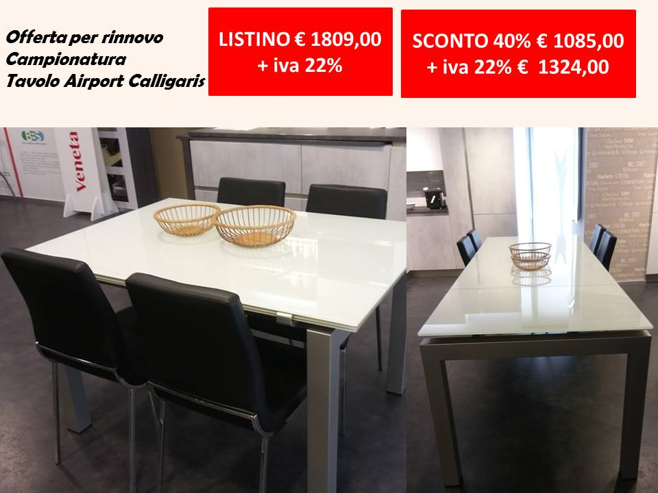 tavolo airport calligaris offerta OUTLET