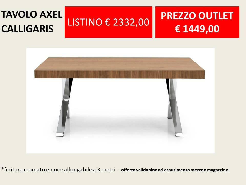 tavolo axel calligaris outlet