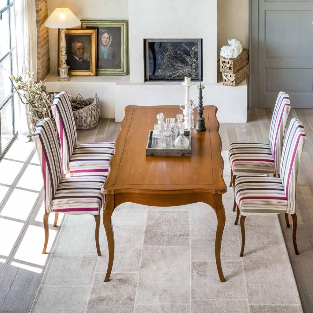 Tavolo classico rettangolare allungabile