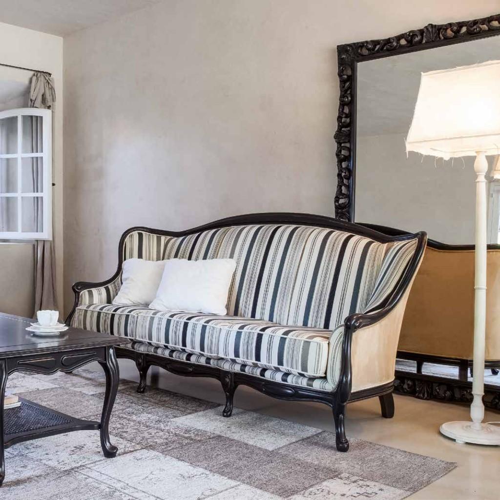 divano classico rigato
