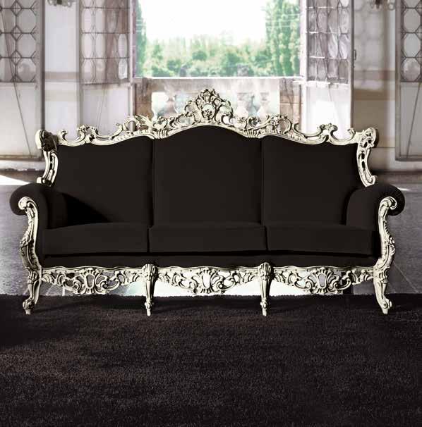 divano classico foglia argento