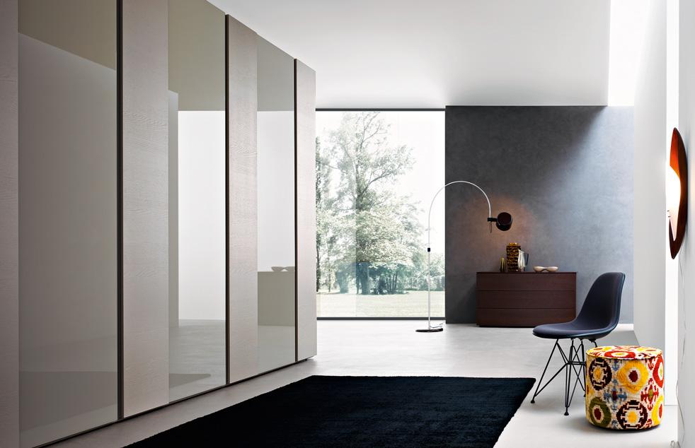 Armadio Scorrevole Porta Tv Mindland : Armadio scorrevole laccato ecolegno legno vetro o specchio