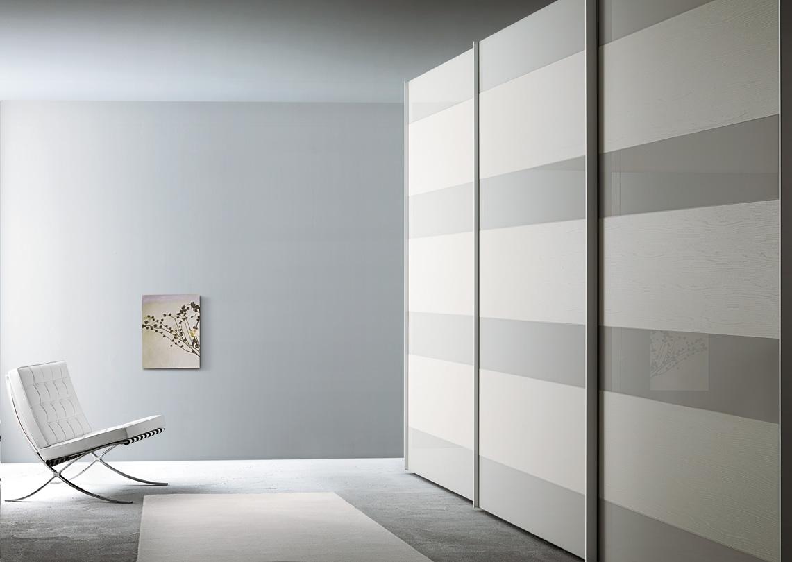 Armadio scorrevole laccato ecolegno legno vetro o specchio - Armadio scorrevole specchio ...