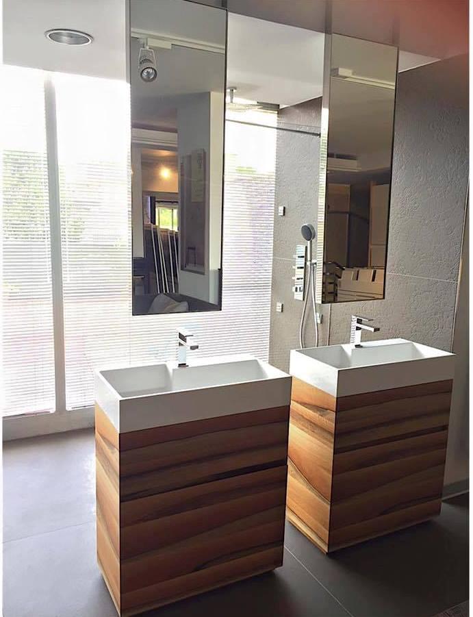 bagno doppio mobile lavandino