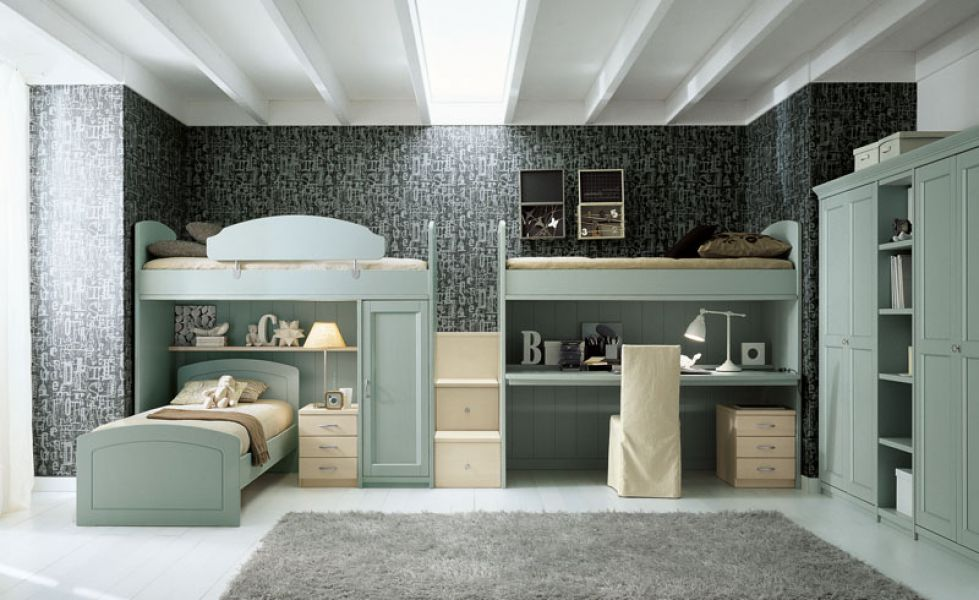 Arredamento in legno massello camere camerette for Arredamento camerette ragazzi prezzi
