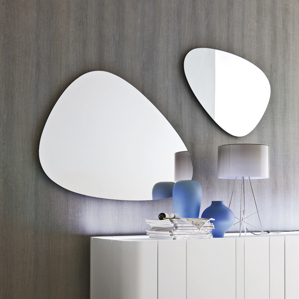 specchio moderno sagomato Stone Tonin Casa