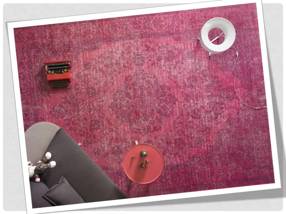 tappeto rosa ciclamino