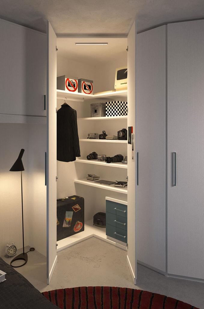 Cabina armadio per cameretta realizzabile anche su misura