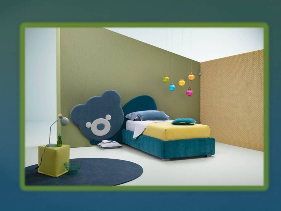 letto per bambino testata forma di orso