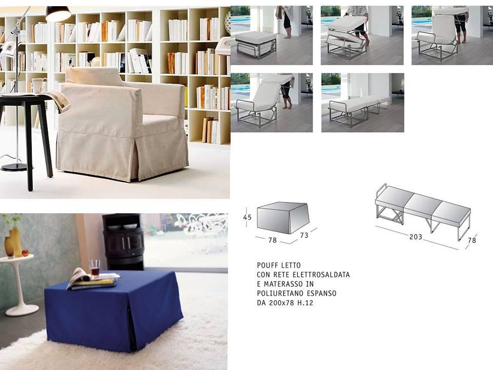 Letti pieghevoli pouff trasformabili paggetto divani e - Letto di emergenza ...