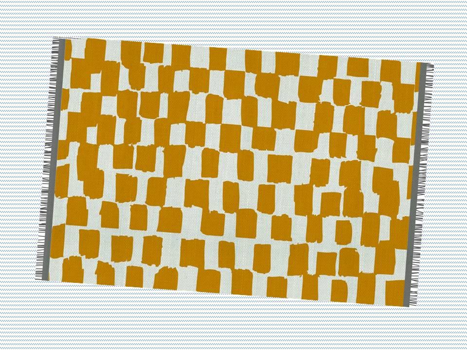 tappeto macchie gialle per cameretta