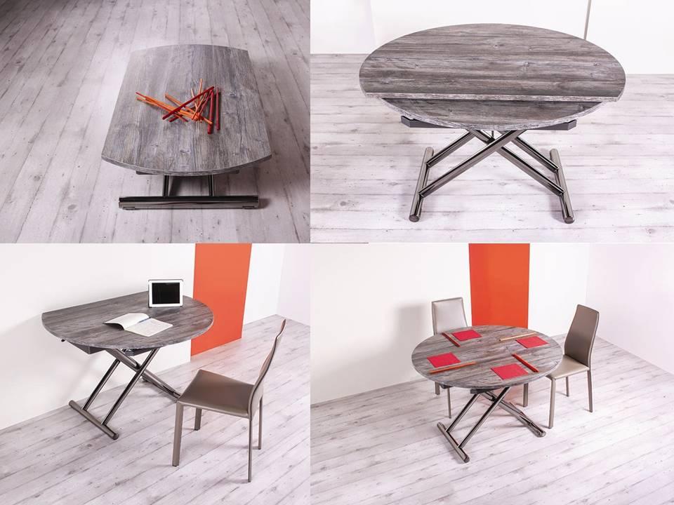 tavolino su e giù rotondo