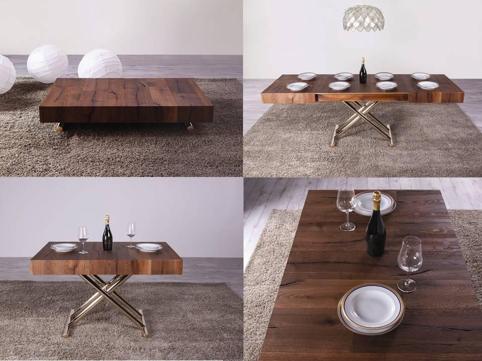 Tavolini trasformabili da tavolino a tavolo in poche mosse - Tavolo da biliardo trasformabile in tavolo da pranzo ...