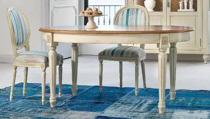 tavolo classico ovale