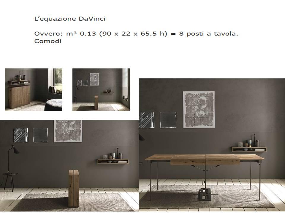 Tavolo trasformabile modello Da Vinci