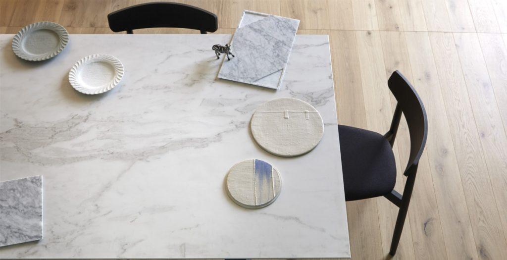 tavolo ceramica bianco statuario