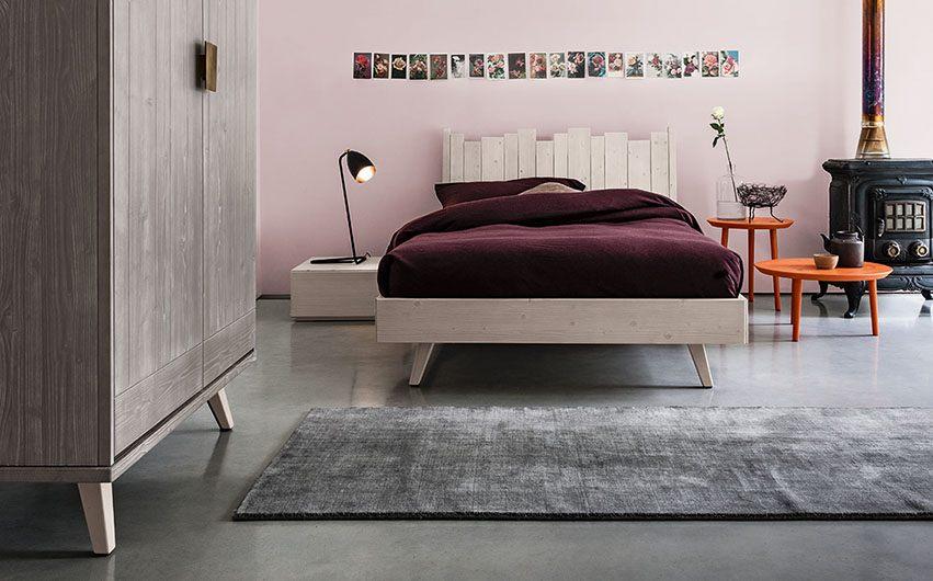 letto e armadio a doghe legno massello
