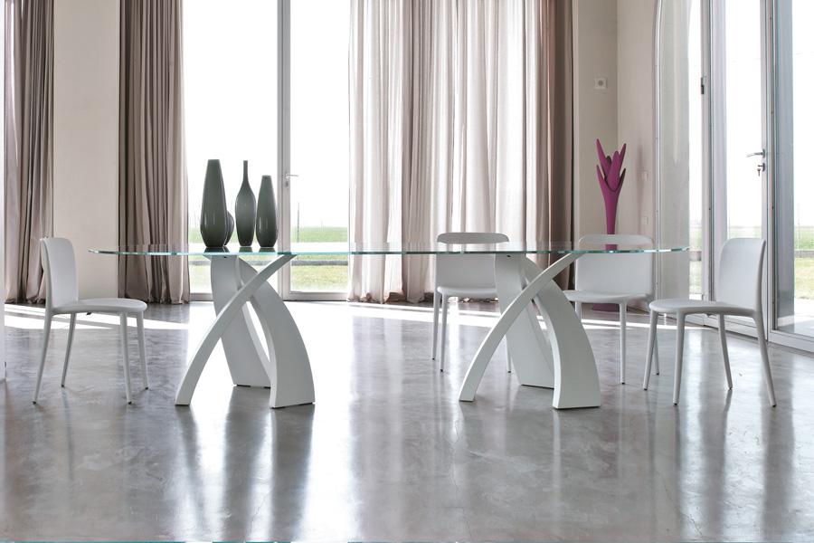 tavolo lungo 3 metri in cristallo